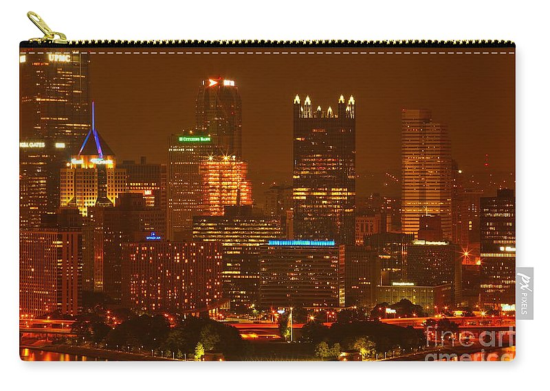 Pittsburgh Pennsylvania Carry-all Pouch featuring the photograph Evening In The City Of Champions by Adam Jewell