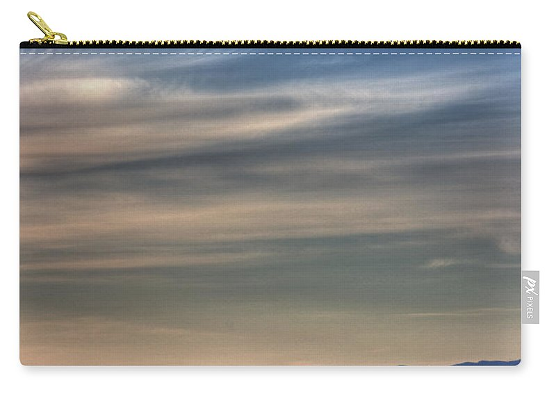 Water Carry-all Pouch featuring the photograph Evening Light On The Salish Sea by Randy Hall