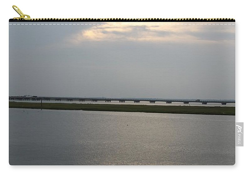 Chincoteague Sound Carry-all Pouch featuring the photograph Evening Light Over The Sound by Christiane Schulze Art And Photography