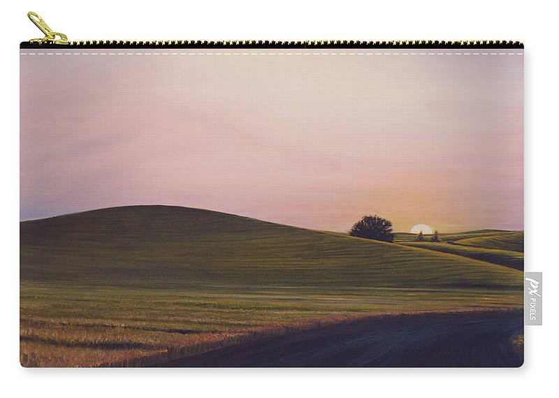 Wheat Carry-all Pouch featuring the painting Evening near Viola by Leonard Heid