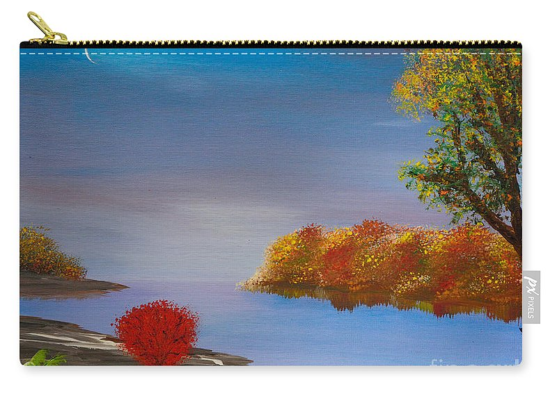 Late Fall Carry-all Pouch featuring the painting Evening On The Last Sunny Day by Alys Caviness-Gober