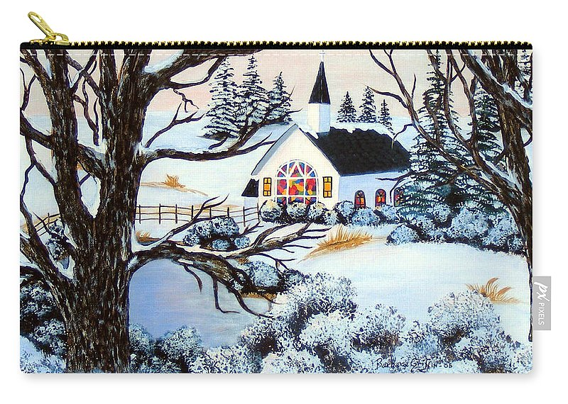 Barbara Griffin Carry-all Pouch featuring the painting Evening Services by Barbara Griffin