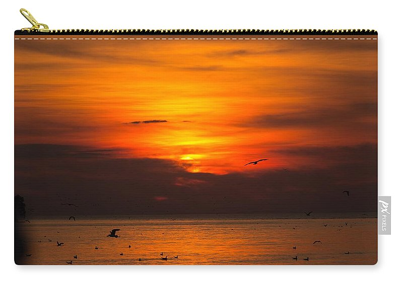 Evening Carry-all Pouch featuring the photograph Evening Sky by Jim Koniar