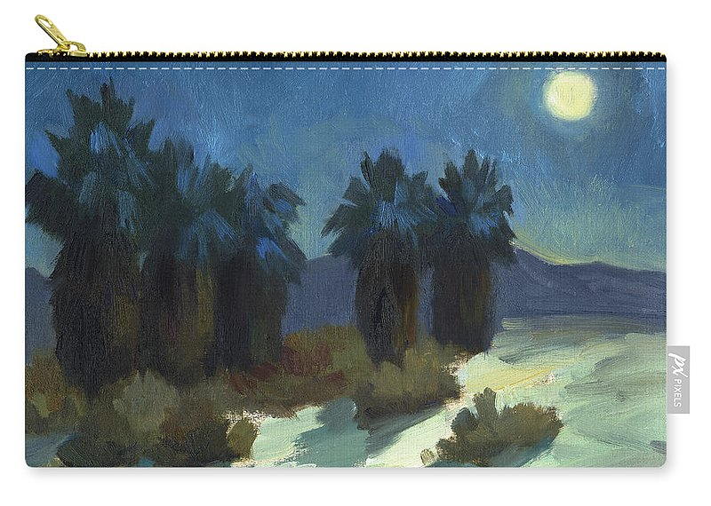 Evening Solitude Carry-all Pouch featuring the painting Evening Solitude by Diane McClary