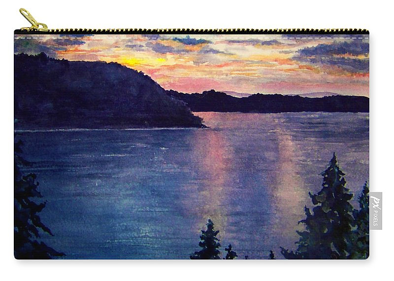 Sunset Carry-all Pouch featuring the painting Evening Song by Brenda Owen