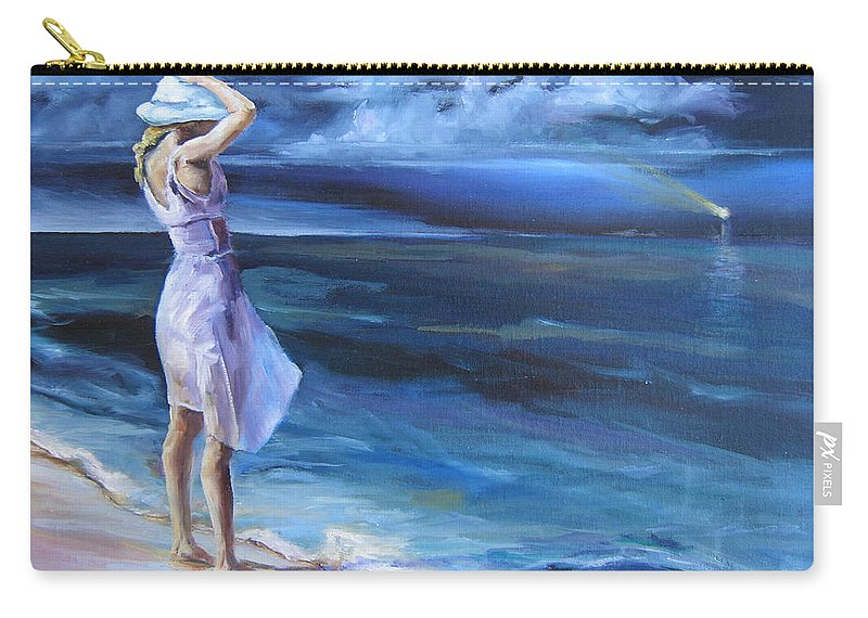 Beach Carry-all Pouch featuring the painting Evening Song by Diane Kraudelt