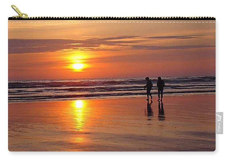 Sunset Carry-all Pouch featuring the photograph Evening Stroll by Nick Kloepping
