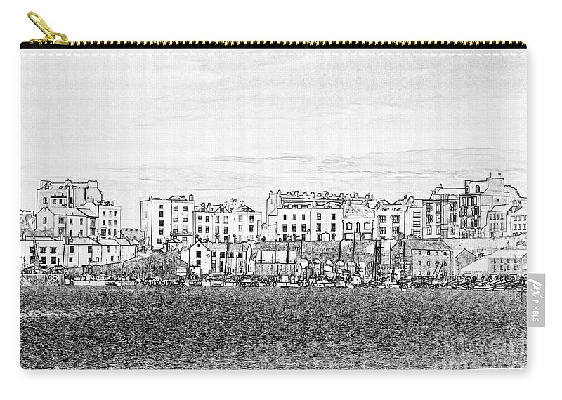 Tenby Carry-all Pouch featuring the photograph Evening Sunshine Over Tenby by Steve Purnell