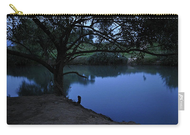 Evening Carry-all Pouch featuring the photograph Evening Time At Kfar Blum by Dubi Roman