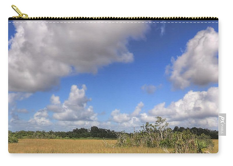 Beautiful Carry-all Pouch featuring the photograph Everglades Landscape Panorama by Rudy Umans