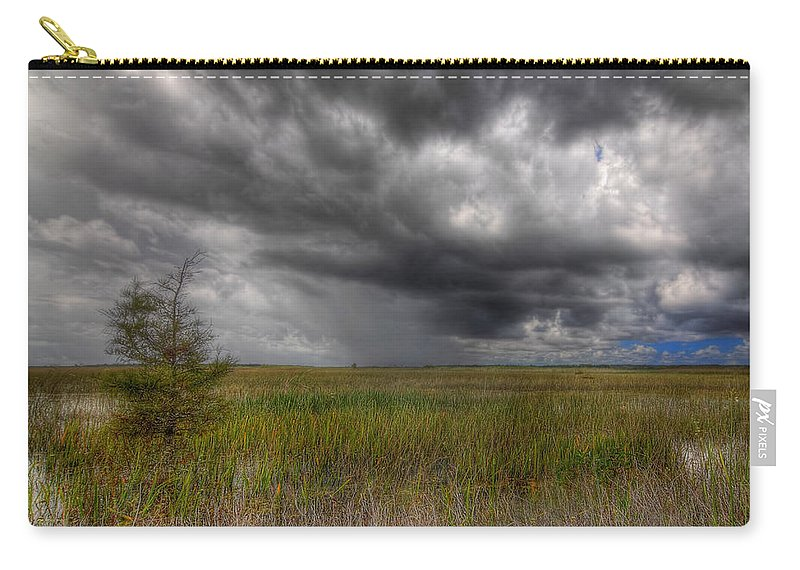 Bush Carry-all Pouch featuring the photograph Everglades Storm by Rudy Umans