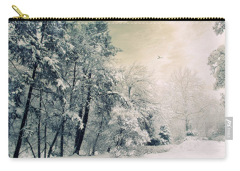 Winter Carry-all Pouch featuring the photograph Evergreen by Jessica Jenney