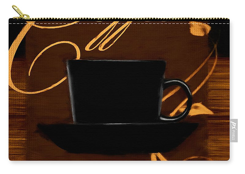 Coffee Carry-all Pouch featuring the digital art Every Cup Matters by Lourry Legarde