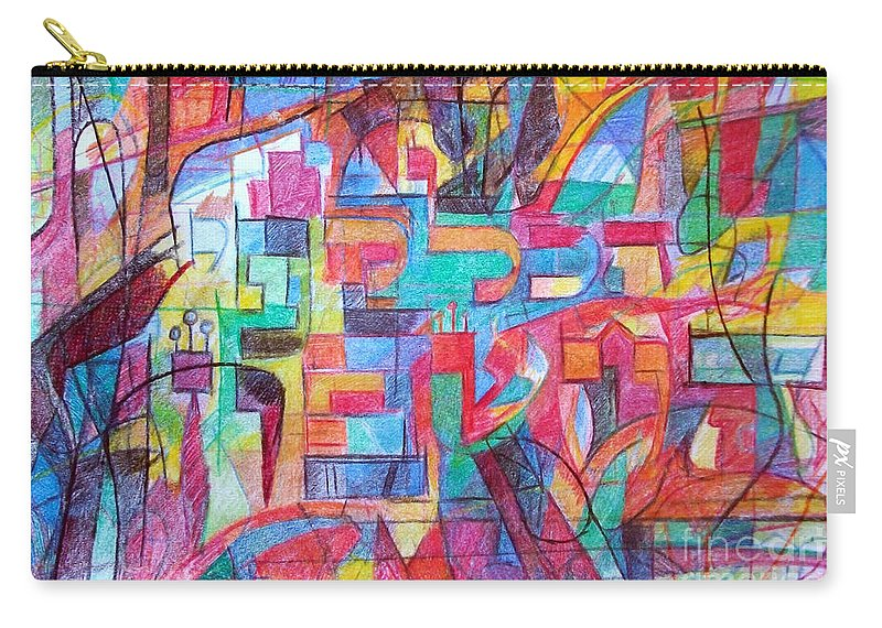 Torah Carry-all Pouch featuring the drawing Everything Is According To The Accounting by David Baruch Wolk