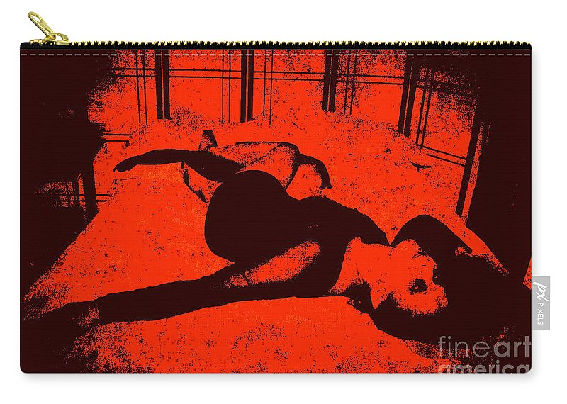 Black Carry-all Pouch featuring the photograph Everythings Fucked by Jessica Shelton