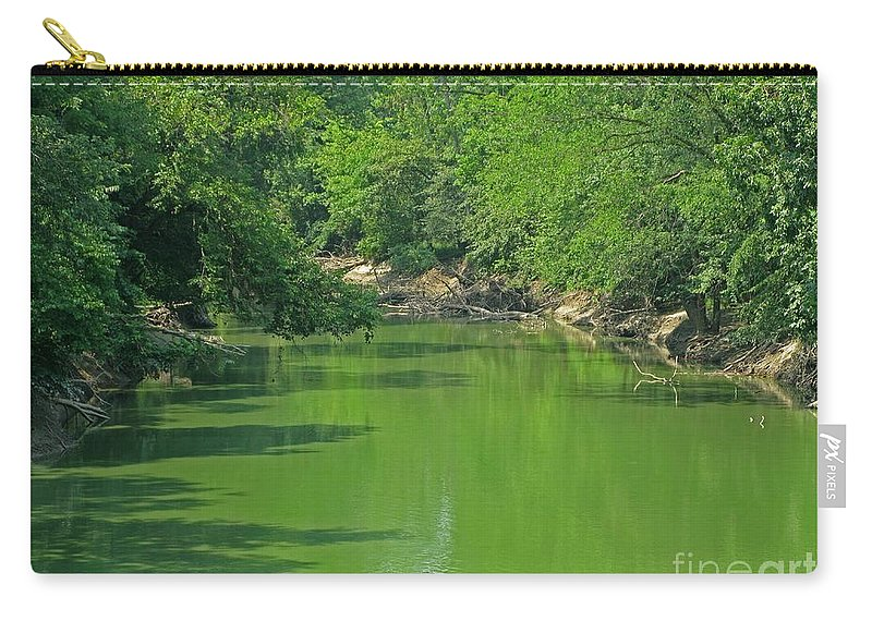 Green Carry-all Pouch featuring the photograph Everywhere Green by Ann Horn