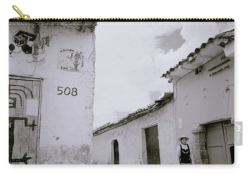 Cuzco Carry-all Pouch featuring the photograph The Life Of Cuzco by Shaun Higson