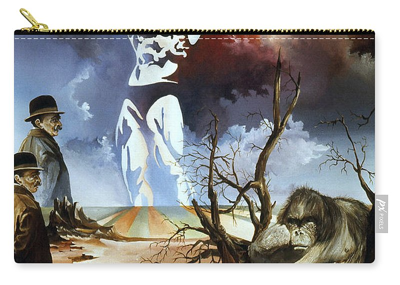 Surrealism Carry-all Pouch featuring the painting Evolution by Otto Rapp