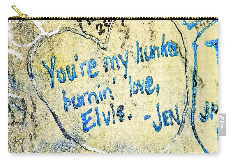 Elvis Carry-all Pouch featuring the photograph Excerpts From The Wall Memphis by Lizi Beard-Ward