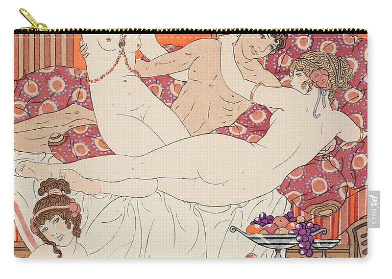 Ancient Greece Carry-all Pouch featuring the painting Excess Of Wine And Women by Joseph Kuhn-Regnier