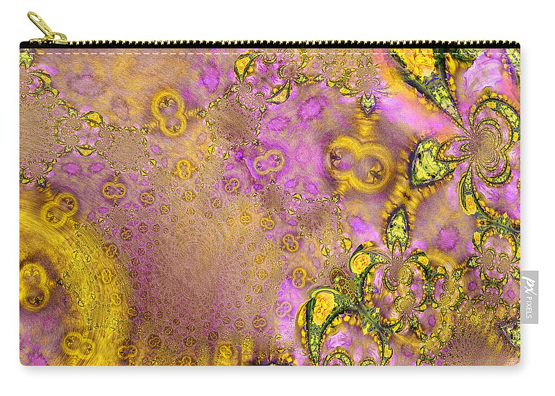 Fractal Carry-all Pouch featuring the painting Exodus by Miki De Goodaboom