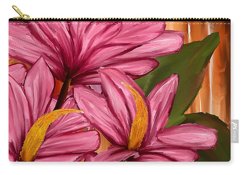 Magnolia Carry-all Pouch featuring the painting Exotic Thing by Lourry Legarde
