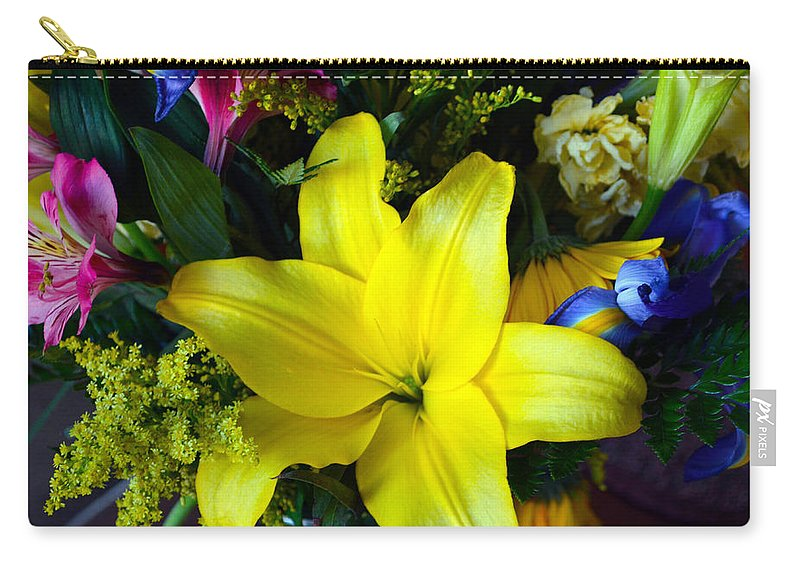 Exotic Carry-all Pouch featuring the photograph Exotic Yellow by Brent Dolliver