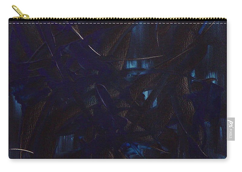 Abstract Carry-all Pouch featuring the painting Expectations Blue by Dean Triolo