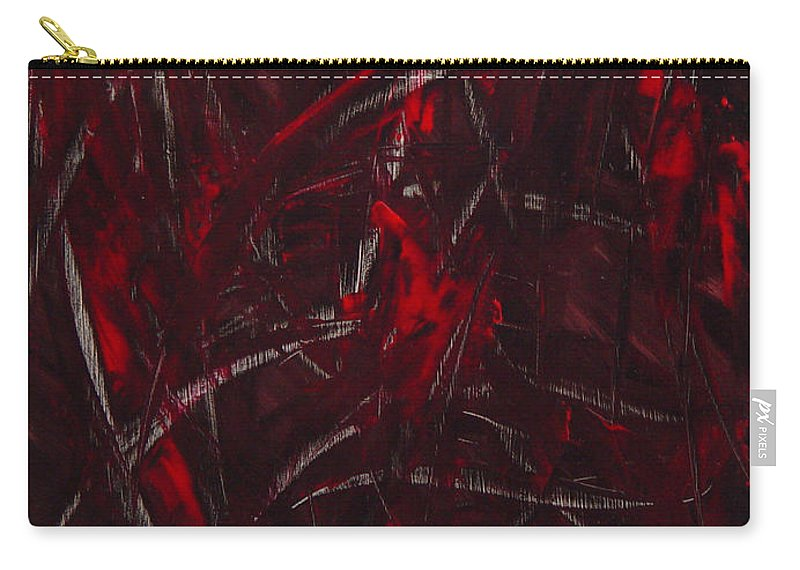 Abstract Carry-all Pouch featuring the painting Expectations Red by Dean Triolo