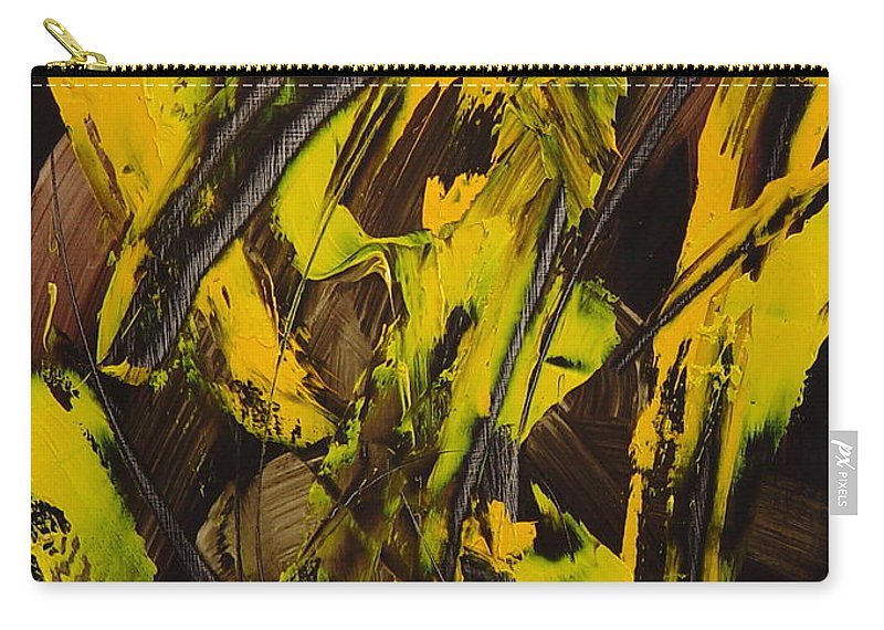 Abstract Carry-all Pouch featuring the painting Expectations Yellow by Dean Triolo