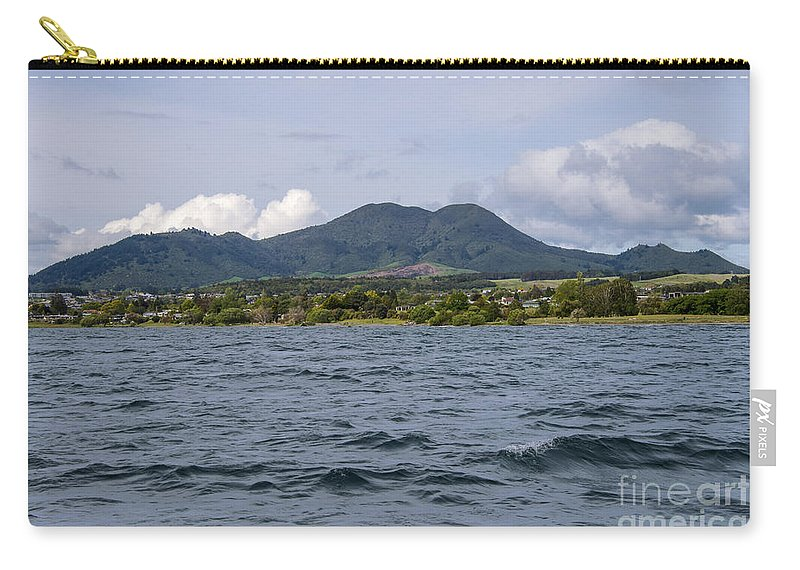Ake Taupo New Zealand Mountain Mountains Lakes Landscape Landscapes Waterscape Waterscape Likeness Of Woman Expecting A Baby Carry-all Pouch featuring the photograph Expecting by Bob Phillips