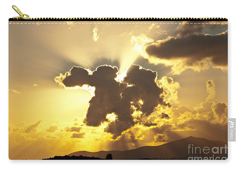 Clouds Carry-all Pouch featuring the photograph Exploding Cloud by James Lavott