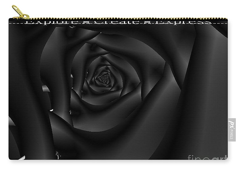 Tempation Carry-all Pouch featuring the digital art Explore Create Express by Dana Haynes