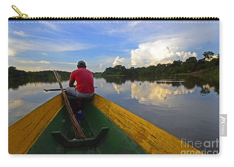 Amazon Carry-all Pouch featuring the photograph Exploring Amazonia by Bob Christopher