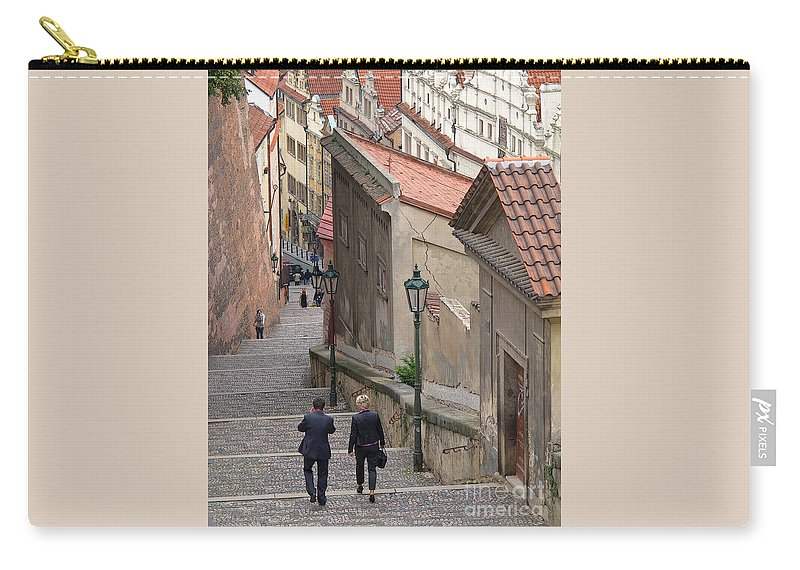 Prague Carry-all Pouch featuring the photograph Exploring Castle Hill by Ann Horn