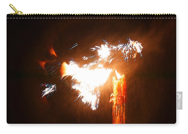 Explosive Carry-all Pouch featuring the photograph Explosive Candlelight by Mick Anderson
