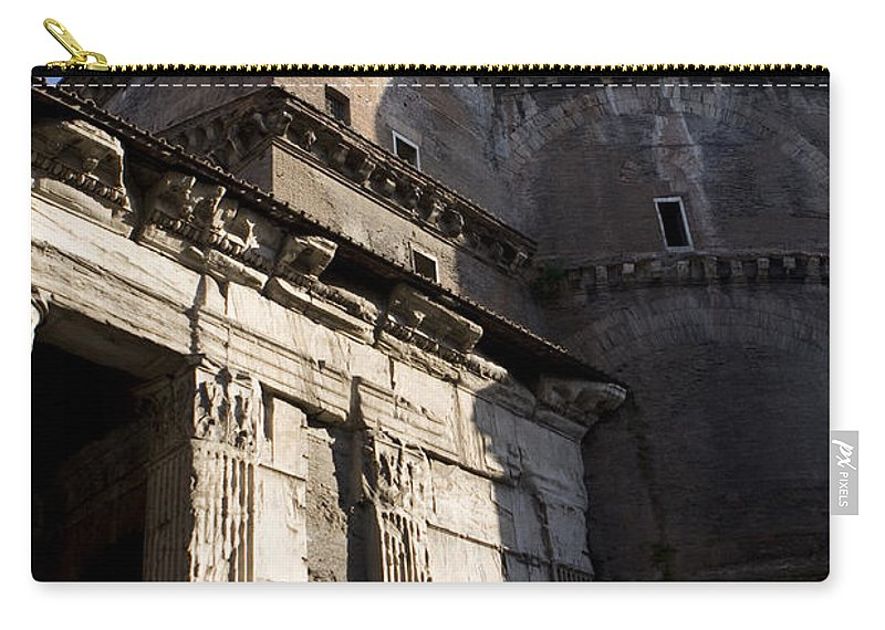 Travel Carry-all Pouch featuring the photograph Exterior Of The Pantheon by Jason O Watson