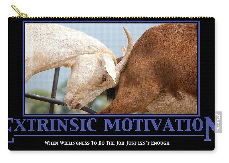 Demotivation Carry-all Pouch featuring the photograph Extrinsic Motivation De-motivational Poster by Lisa Knechtel