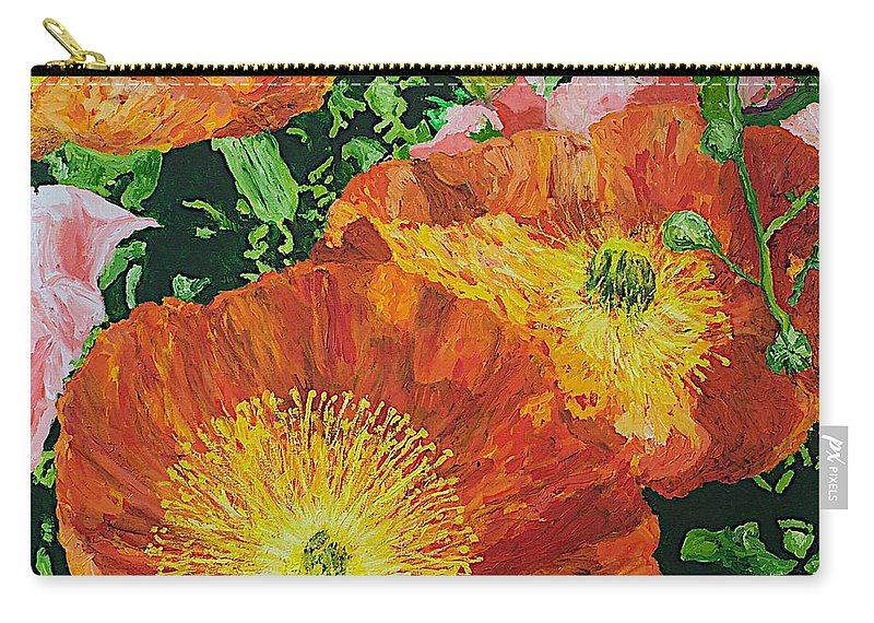 Landscape Carry-all Pouch featuring the painting Exuberance is Beauty by Allan P Friedlander