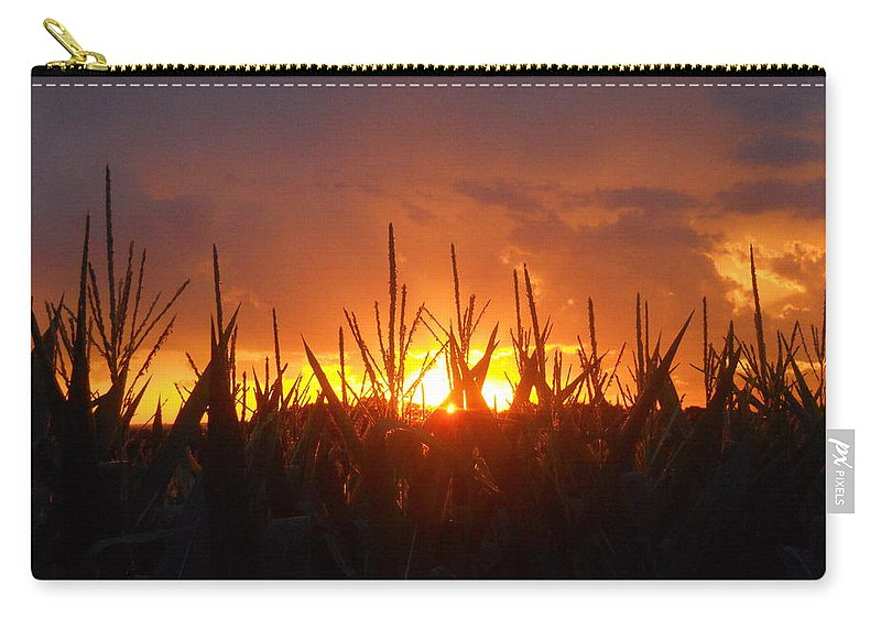 Sunset Carry-all Pouch featuring the photograph Eye Candy Corn by Coleen Harty