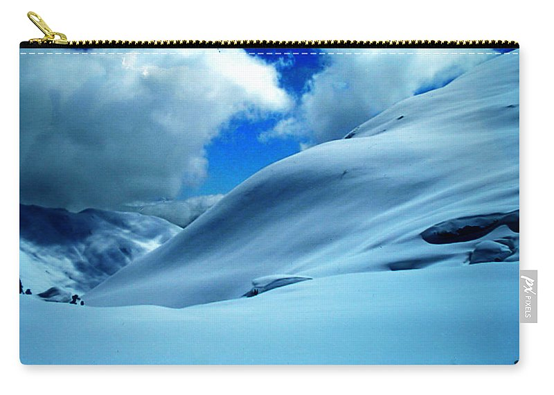 Colette Carry-all Pouch featuring the photograph Eye Catcher In Snow by Colette V Hera Guggenheim