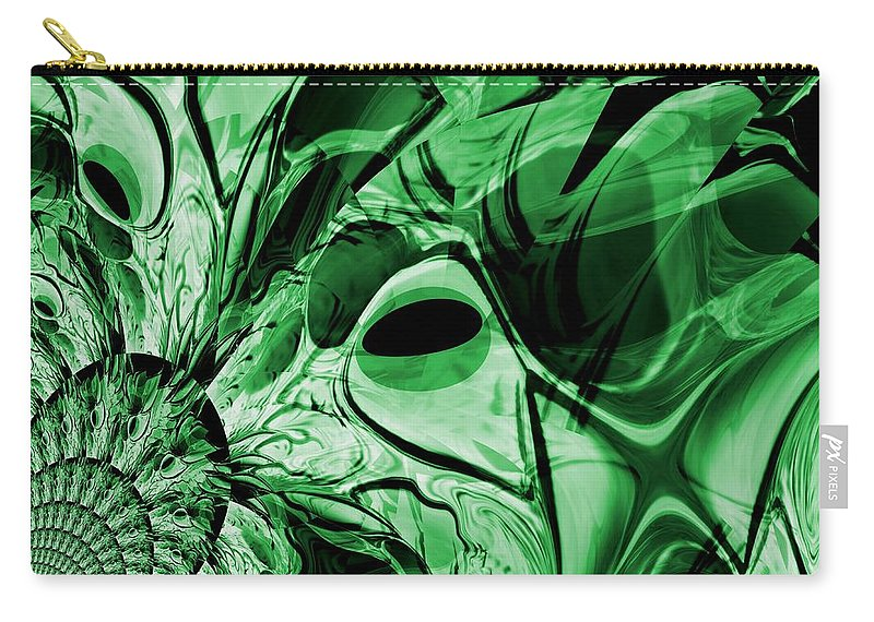 Dragon Carry-all Pouch featuring the digital art Eye Of The Crystal Dragon by Maria Urso