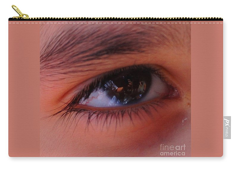 Carry-all Pouch featuring the photograph Eye On The Camera by Ronald Chacon