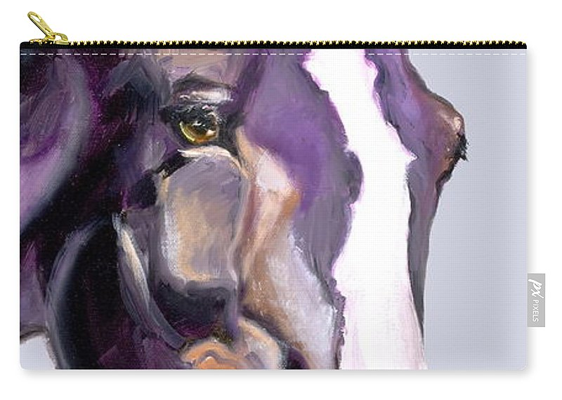 Thoroughbred Carry-all Pouch featuring the painting Eye On The Prize by Susan A Becker