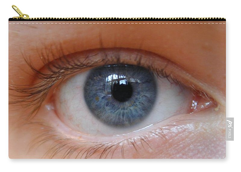 Eye Carry-all Pouch featuring the digital art Eye Phone Case by Philip Ralley