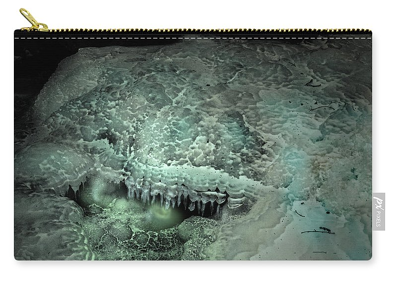 Ice Abstract Carry-all Pouch featuring the photograph Eyecicle by Susan Capuano