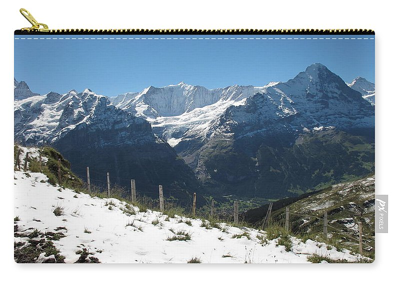 Eiger Carry-all Pouch featuring the photograph Eyeful Of The Eiger by Mary Ellen Mueller Legault