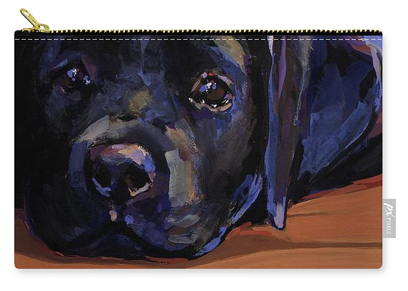 Labrador Retriever Puppy Carry-all Pouch featuring the painting Eyes For You by Molly Poole