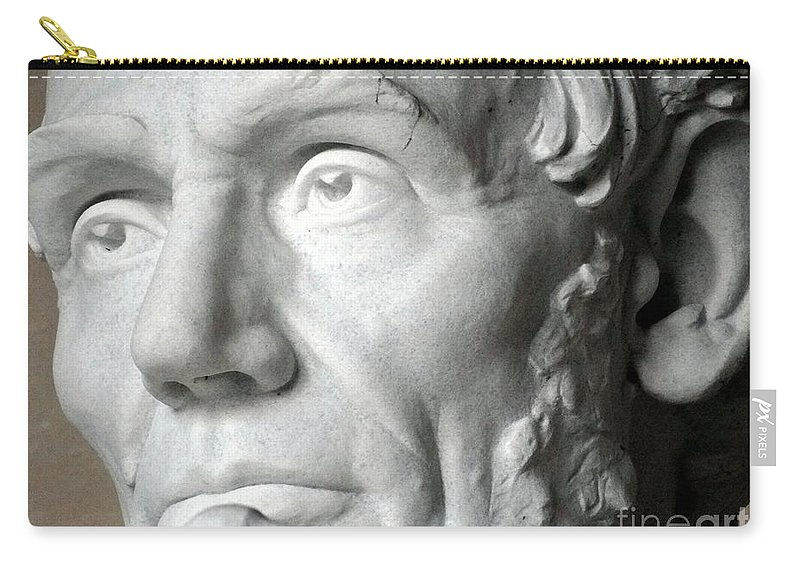 Lincoln Memorial Carry-all Pouch featuring the photograph Eyes Of Abe by Ed Weidman