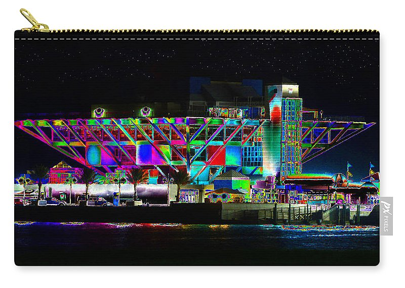 Art Carry-all Pouch featuring the painting Eyes On The Pier by David Lee Thompson